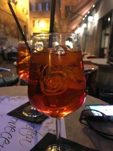 Refreshing and colorful Aperol Spritz