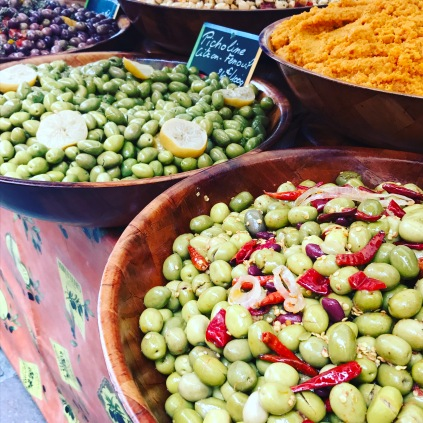 Olives colorful and vibrant!
