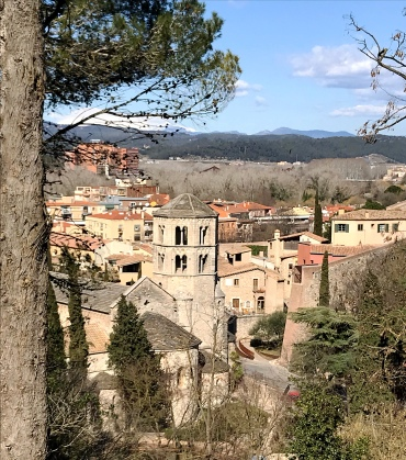 Overlooking Girona from up above